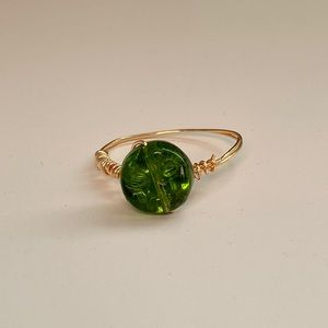 gold and green ring!